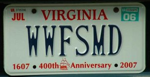 WWFSMD license plate